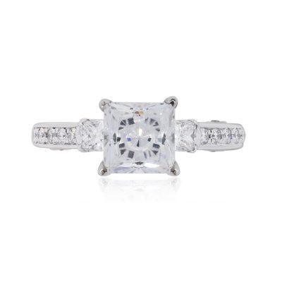 Verragio 7068P 18k White Gold 0.55ctw Diamond Engagement Ring