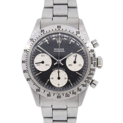 Rolex 6262 Daytona Black Stainless Steel Vintage Watch