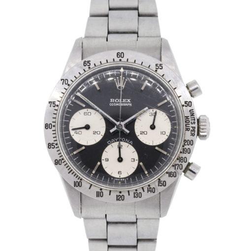 Rolex 6262 Daytona Black Stainless Steel Vintage Watch