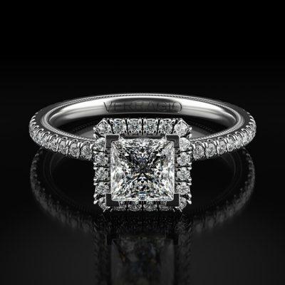 Verragio TR120HP Tradition 14k White Gold 0.46ctw Diamond Halo Engagement Mounting