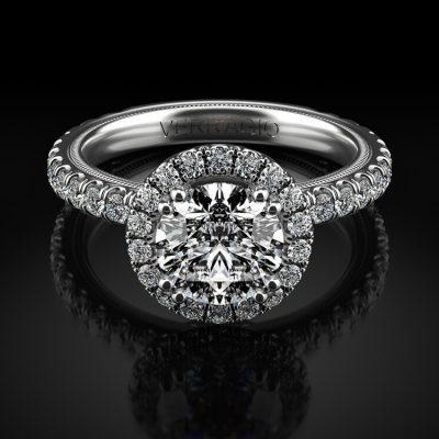 Verragio TR180HR Tradition 14k White Gold 0.91ctw Diamond Diamond Halo Engagement Mounting