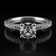 Verragio TR180R4 Tradition 14k White Gold 0.65tcw Diamond Solitaire Engagement Mounting