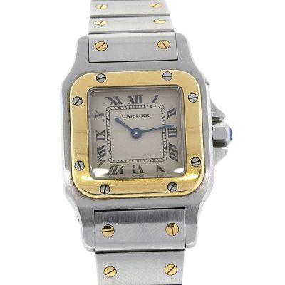 Cartier Santos Galbee Two Tone Ladies Automatic Watch