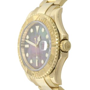 Rolex 16628 Yacht-Master 18k Yellow Gold Tahitian Mother Of Pearl Dial Watch