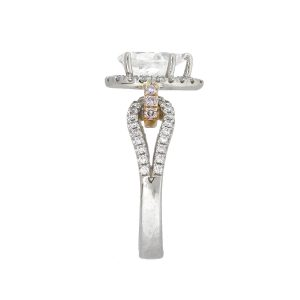 Simon G 1.06ct 18k White Gold Pear Shape GIA Diamond Engagement Ring