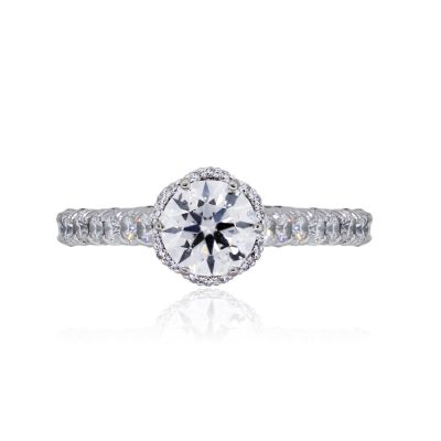 Tacori 18k White Gold 1.78ctw Diamond Petite Crescent Engagement Ring