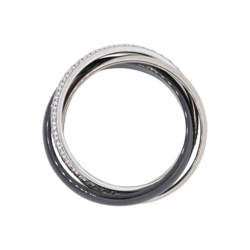 ceramic white gold ring