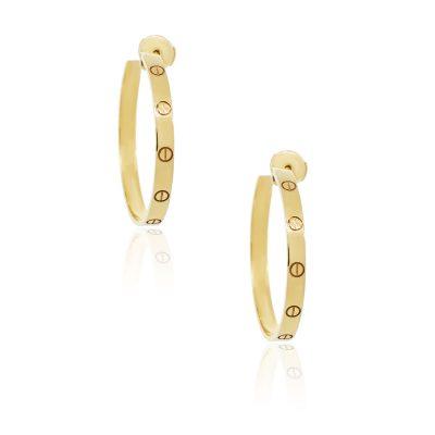 Cartier 18k Yellow Gold Love Hoop Earrings