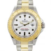 Rolex 16623 Yachtmaster Two Tone White Dial Watch