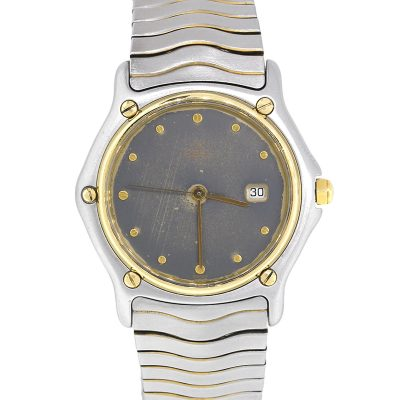 Ebel 183909 Sport Wave Two Tone Gray Dial Watch