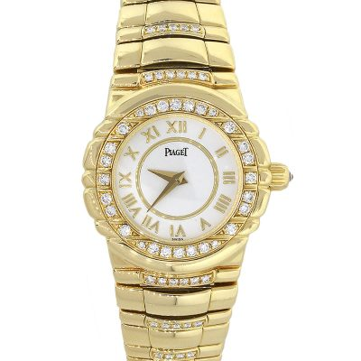 Piaget Tanagra 18k Yellow Gold Diamond Bezel Ladies Watch