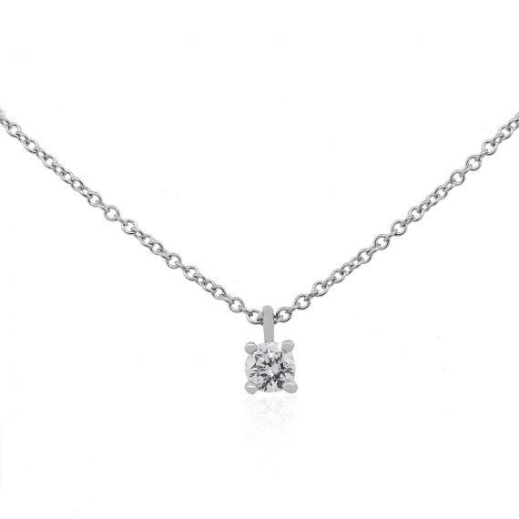 cbdd8e020 Tiffany & Co. Platinum 0.17ct Diamond Solitaire Pendant Necklace