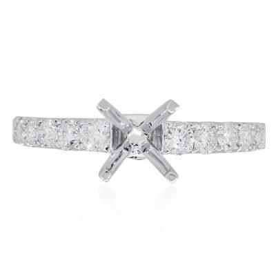 14k white gold diamond mounting