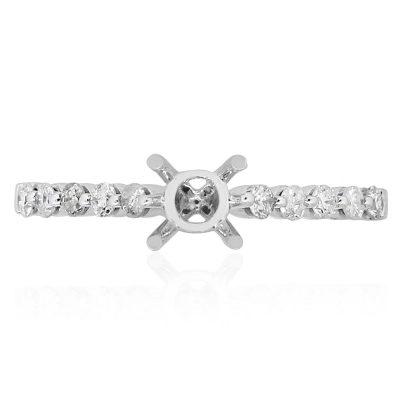 14k White Gold Diamond Setting