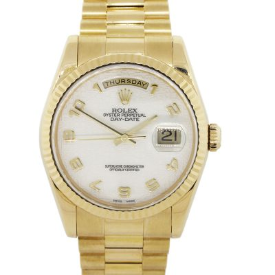 Rolex 118238 Day Date Presidential 18k Yellow Gold Watch