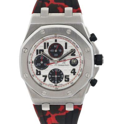 """Audemars Piguet 26170ST """"Panda"""" Royal Oak Offshore Chronograph Stainless Steel Watch"""