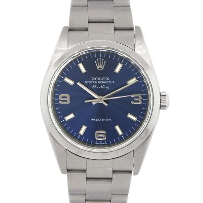 Rolex 14000 Airking Blue Dial Stainless Steel Watch