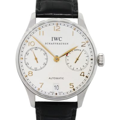 IWC IW500114 Portuguese Stainless Steel on Leather Watch
