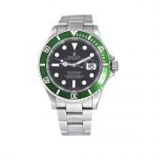 Rolex 16610 Submariner Stainless Steel Kermit Black Dial Green Bezel Watch