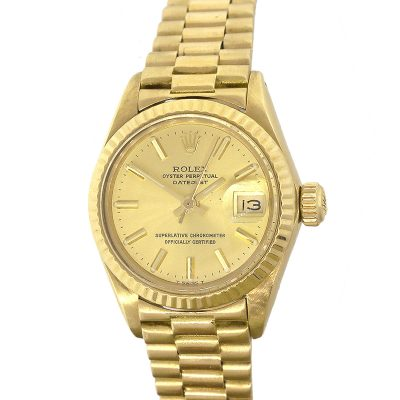 Rolex 6917 Datejust 18k Yellow Gold Champagne Dial 26mm Ladies Watch