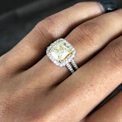 fancy yellow ring
