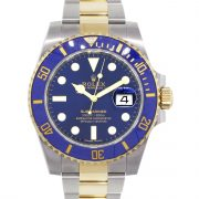 Rolex 116613LB Submariner Two Tone Blue Dial and Bezel Watch