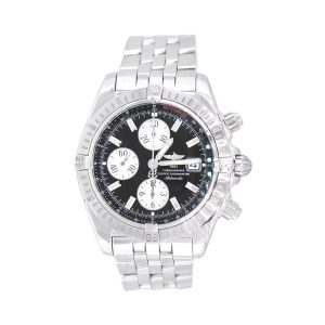 Breitling A13356 Chronomat Evolution Stainless Steel Black Dial Watch