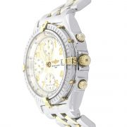 Breitling B13050 Chronomat Two Tone White Dial Watch