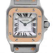 cartier two tone rose gold watch