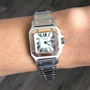 Cartier Santos Two Tone Ladies Watch