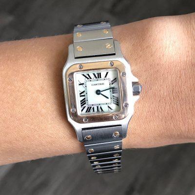Cartier Santos Two Tone Ladies Watch