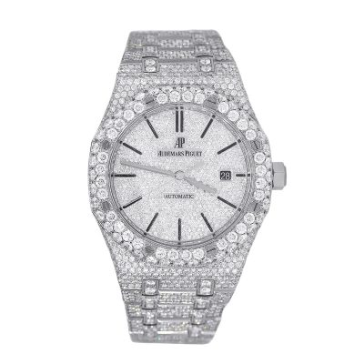 Audemars Piguet 15400 Royal Oak Stainless Steel Diamond Pave Watch