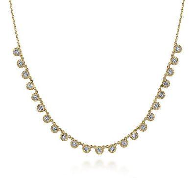 Gabriel & Co. NK6024Y45JJ 14K Yellow Gold 0.98ctw Diamond Choker Necklace