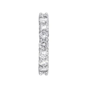 Platinum 3.8ctw Round Cut Diamond Eternity Band