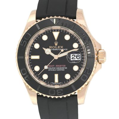 Rolex 116655 Yacht Master 18k Rose Gold Black Dial Watch