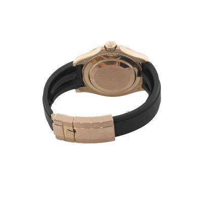 Rolex 116655 Yacht Master 18k Rose Gold Black Dial Watch