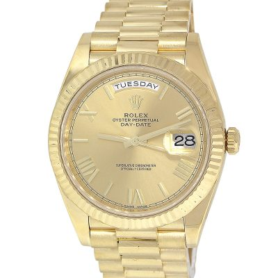 Rolex 228238 Day Date Presidential Champagne Dial Watch