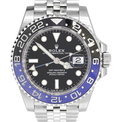 "Rolex 126710 Master GMT II ""Batman"" Stainless Steel Watch"