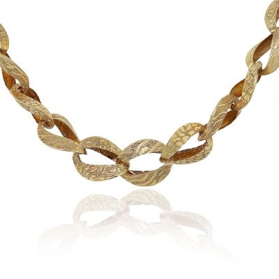 """18k Yellow Gold 18"""" Ladies Large Link Necklace"""