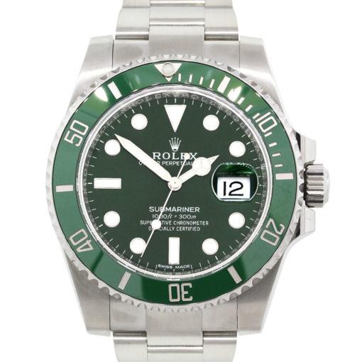 """Rolex 116610LV Submariner """"Hulk"""" Stainless Steel Watch"""