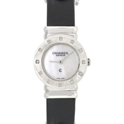 Philippe Charriol Sterling Silver Mother Of Pearl Dial Ladies Watch