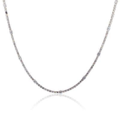 "14k White Gold 25ctw Diamond 32"" Tennis Necklace"