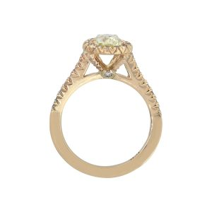 14k Yellow Gold 0.89ct Pear Shape GIA Diamond Engagement Ring