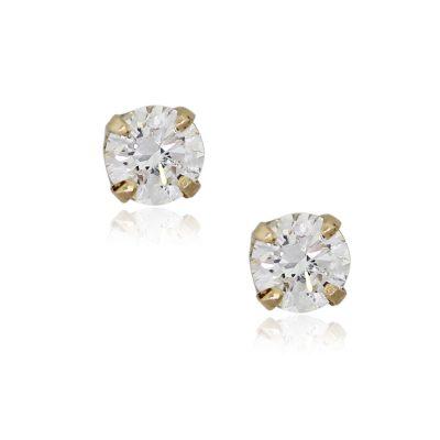 14k Yellow Gold 0.60ctw Round Brilliant Diamond Stud Earrings