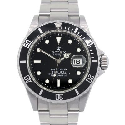 Rolex 11610 Submariner Black Dial and Bezel Stainless Steel Watch