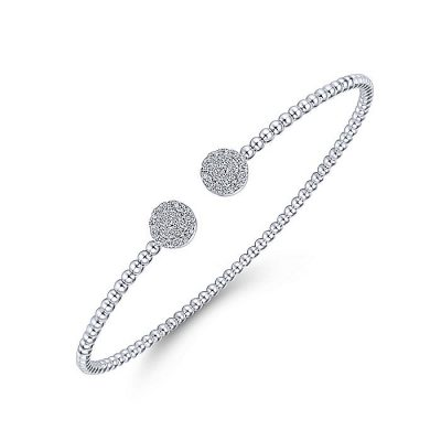 Gabriel & Co. 14k White Gold 0.29ctw Diamond Open Bangle