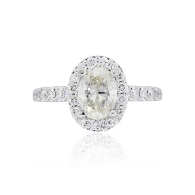 Gabriel & Co. 14k White Gold 1.22ct GIA Certified Oval Diamond Engagement Ring