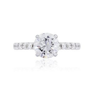 Gabriel & Co. 14k White Gold 1.58ct GIA Certified Diamond Engagement Ring