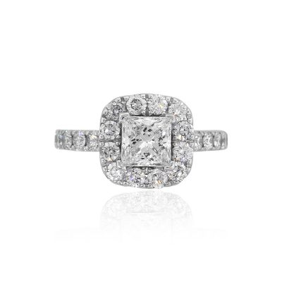 Neil Lane 14k White Gold 0.46ctw Diamond Halo Mounting