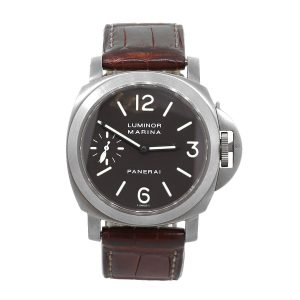 Panerai PAM 0061 Luminor Marina Titanium Tobacco Dial Watch